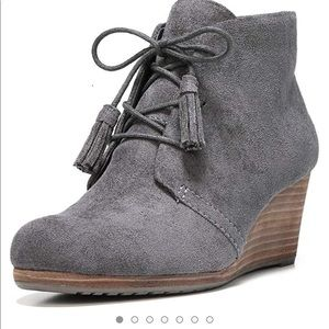 Dr. Scholl's - Dakota Wedge Booties - Grey - 8.5M